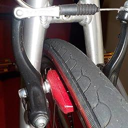 Kool-Stop International BMX Bicycle Brake Pads w Cooling Fins Gold//Black Shoes