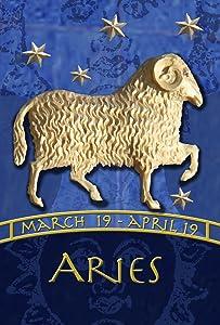 "Toland Home Garden 1110291 Zodiac-Aries 12.5 x 18 Inch Decorative, Garden Flag (12.5"" x 18"")"