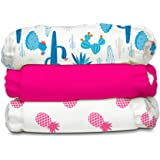Charlie Banana Baby Fleece Reusable and Washable Cloth Diaper System, 3 Diaper and 6 Inserts, One Size