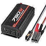 POTEK 750W Car Power Inverter DC 12 V to 110V AC Dual AC Charging Port / 2A USB Port for Laptop, Smart Phone