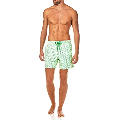 bf2e4a3e456a6 Vilebrequin Micro Turtles Hawaï Swim Shorts - Men - Veronese Green - XXXL:  Amazon.co.uk: Clothing