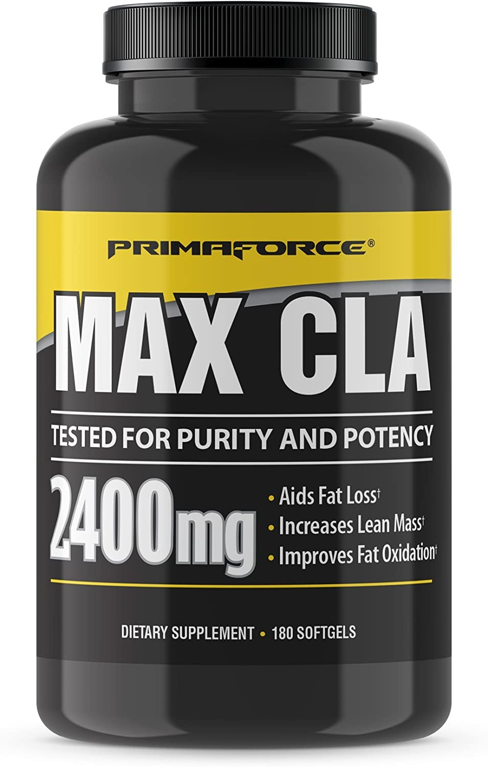 Primaforce Max CLA 2400 Conjugated Linoleic Acid Supplement, 180 Count Softgels – Aids Fat Loss/Increases Lean Mass/Improves Fat Oxidation: Health & Personal Care