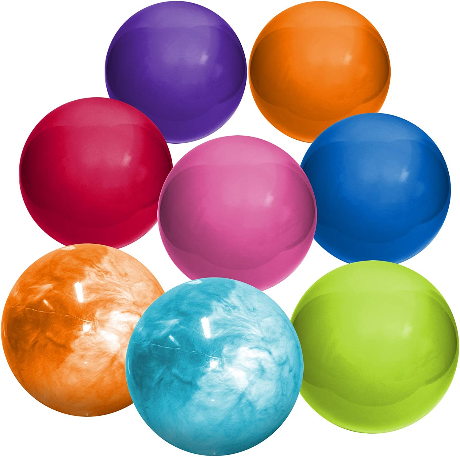 Hedstrom Multi-Color Assortment of Large Playballs Indoor/Outdoor Playballs, Multi