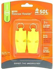 S.O.L. Survive Outdoors Longer Rescue Howler Whistle, 2 Piece