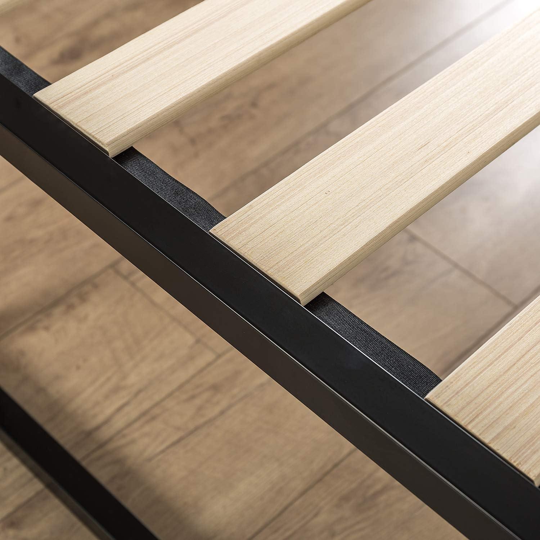 Zinus Cama de plataforma Joseph Modern Studio de 45,7 cm, Base para colchón, Sin necesidad de usar un somier, Sólido soporte de listones de madera, ...