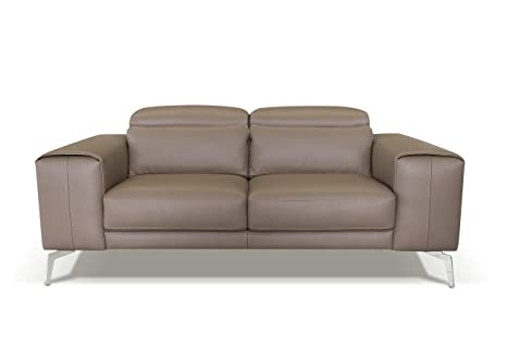 Miraculous Amazon Brand Alkove Elvas Leather Sofa 2 Seater Maxi Taupe Bralicious Painted Fabric Chair Ideas Braliciousco