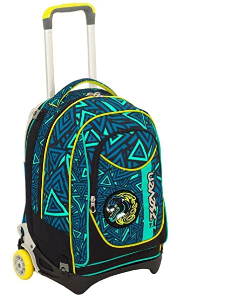 57bb080987 ZAINO TROLLEY SGANCIABILE SEVEN NEW JACK SHIFT BOY BLU: Amazon.it ...