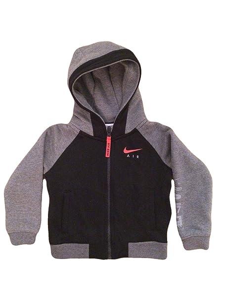 cab1e5e1a522 NIKE Air Toddler Boys Full Zip Sweatshirt Hybrid Hoodie Jacket ...