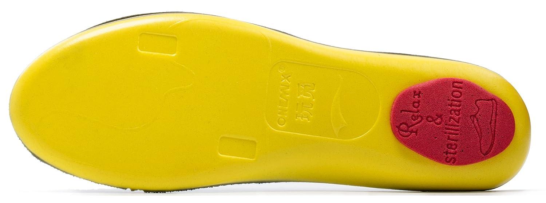 ONEMIX Plantillas cómodo plantilla para Mujer y Hombre - amortiguadora de golpes antibacteriana espesado Negro 46 EU NdfDNMB