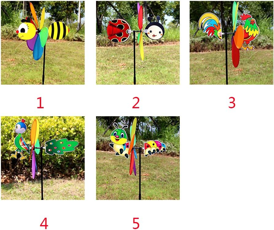 Dekoration Biene Windmill Home Ornament Kinder lustige Gartenblume Schmetterling RFID-Spielzeug Pinwheels Yard Decor Foto Requisite Windspiel Garten Hof bee Wie abgebildet