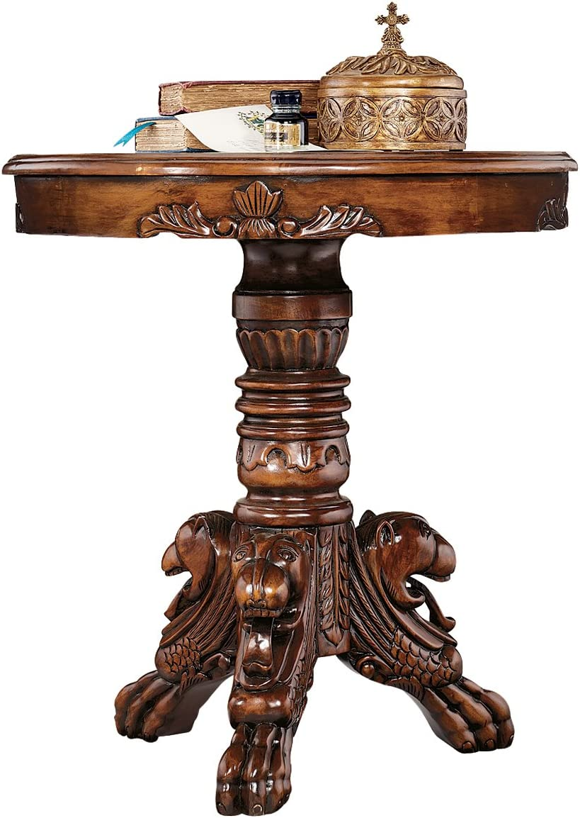 Design Toscano Heraldic Lion End Table