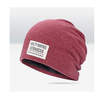 RxDZY Sombrero para hombre de otoño e invierno cálido Baotou ...