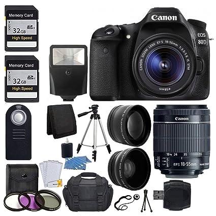 Amazon.com: Canon EOS 80d cámara réflex digital con 18 – 55 ...