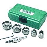 Greenlee 660 Kwik Change Stainless Steel Hole Cutter Kit, 7 Piece