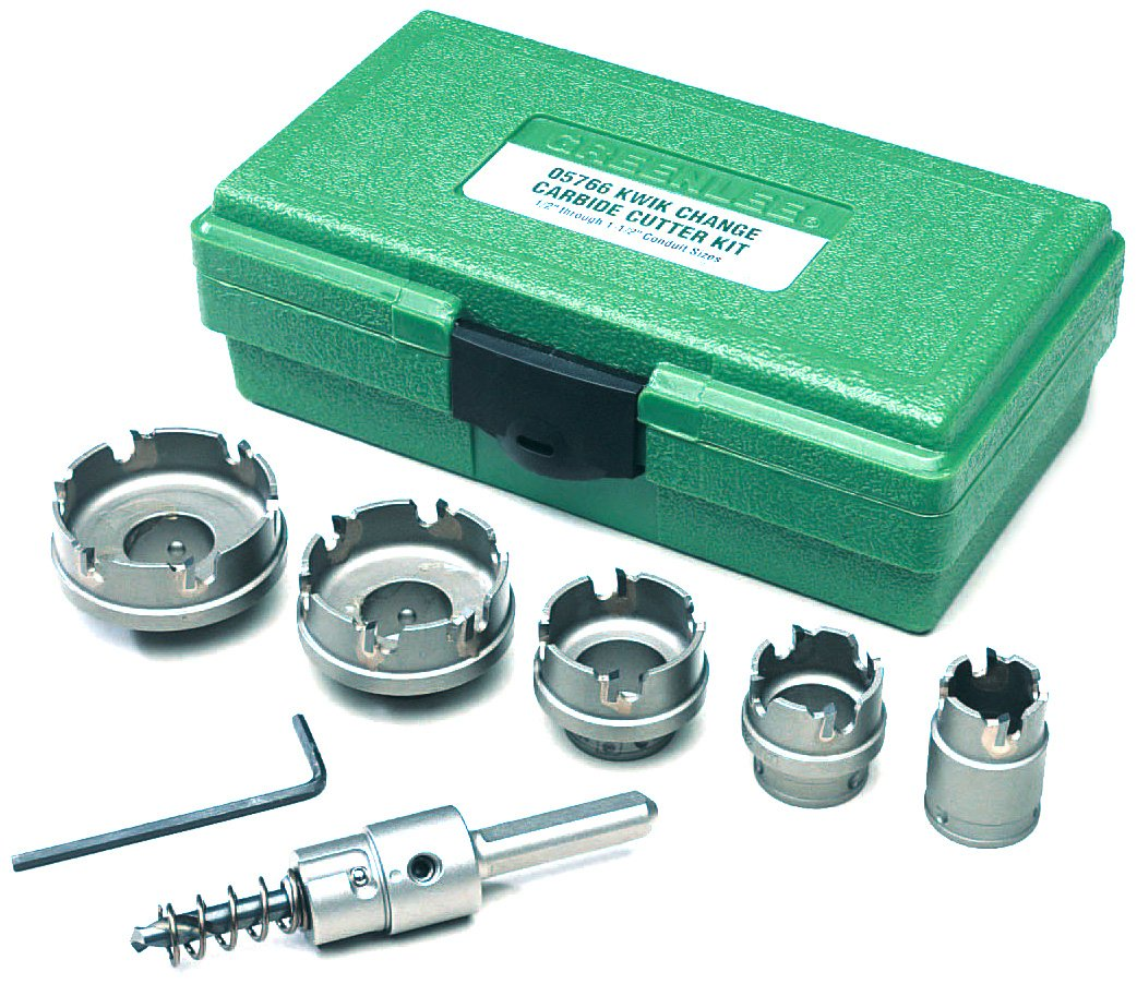 Greenlee 660 Kwik Change Stainless Steel Hole Cutter Kit, 7 Piece by Greenlee
