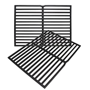 "Enamel Cast Iron Cooking Grates for Weber Spirit 200 Series (Without Front-Mounted Control Panel), Spirit 500, Genesis Silver A Gas Grills (Dims:15 X 11 1/4"" Each Unit, 15 X 22 1/2"" for 2 Units)"