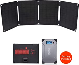 Voltaic Systems Arc 20 Watt Rapid Solar Laptop Charger, 24,000mAh | Includes a USB-C PD Battery Pack (Power Bank) and 2 Year Warranty | Powers Laptops Including MacBook