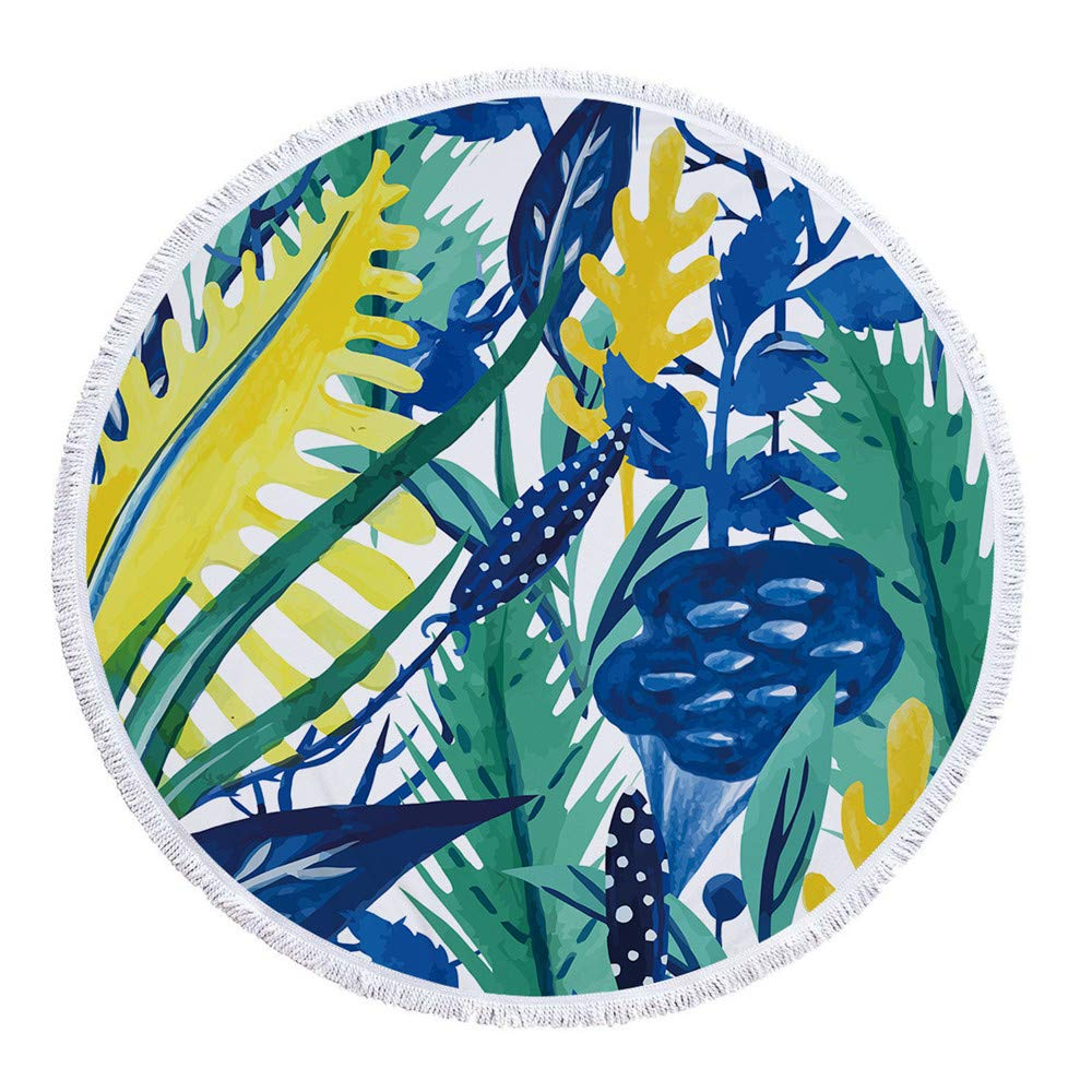Amazon.com: Queen Anter Pineapple Round Beach Towel Tassel ...