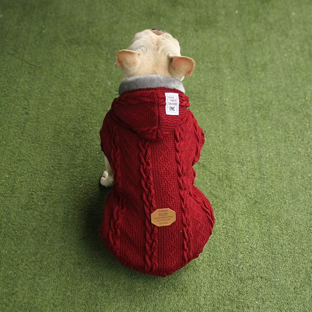 Red Medium Red Medium Pet Sweater Outwear, Dogs Hoodies Clothes Pet Puppy Cat Cute Cotton Warm Hoodies Dog Hoodies Jumpsuit Pet Clothes,Red,M