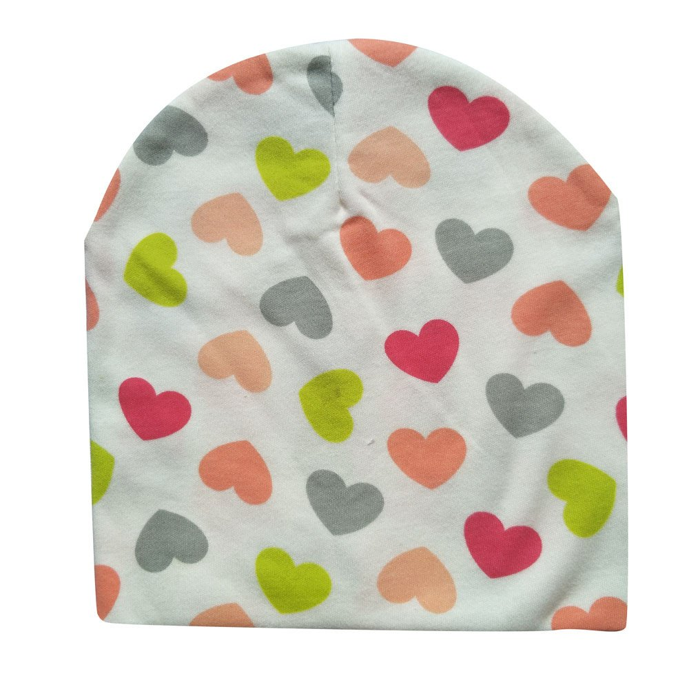 Jshuang Children's Hat Bib, Unisex Baby Autumn and Winter Scarf Two-Piece, Mixed Cotton Print Bandanas, 3~5 Years Old (Multicolor D)