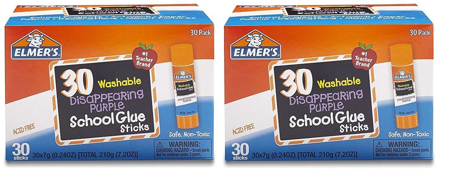 Elmers E523 Purple Disappearing School Glue Stick (Pack of 10) Elmer' S