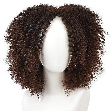 Beauty-Wig Peluca De Pelo Sintético Afro Rizado para Mujeres Negras De Aspecto Natural Kanekalon