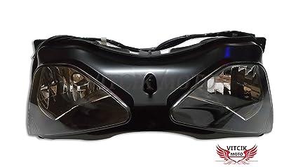 Amazon.com: VITCIK Motorcycle Headlight Assembly for ...