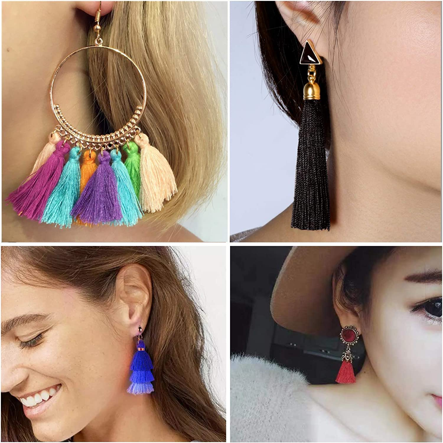 Colorful Bohemian Feather Dangle Drop Earring Gifts for Women Girls Jewelry000001000163
