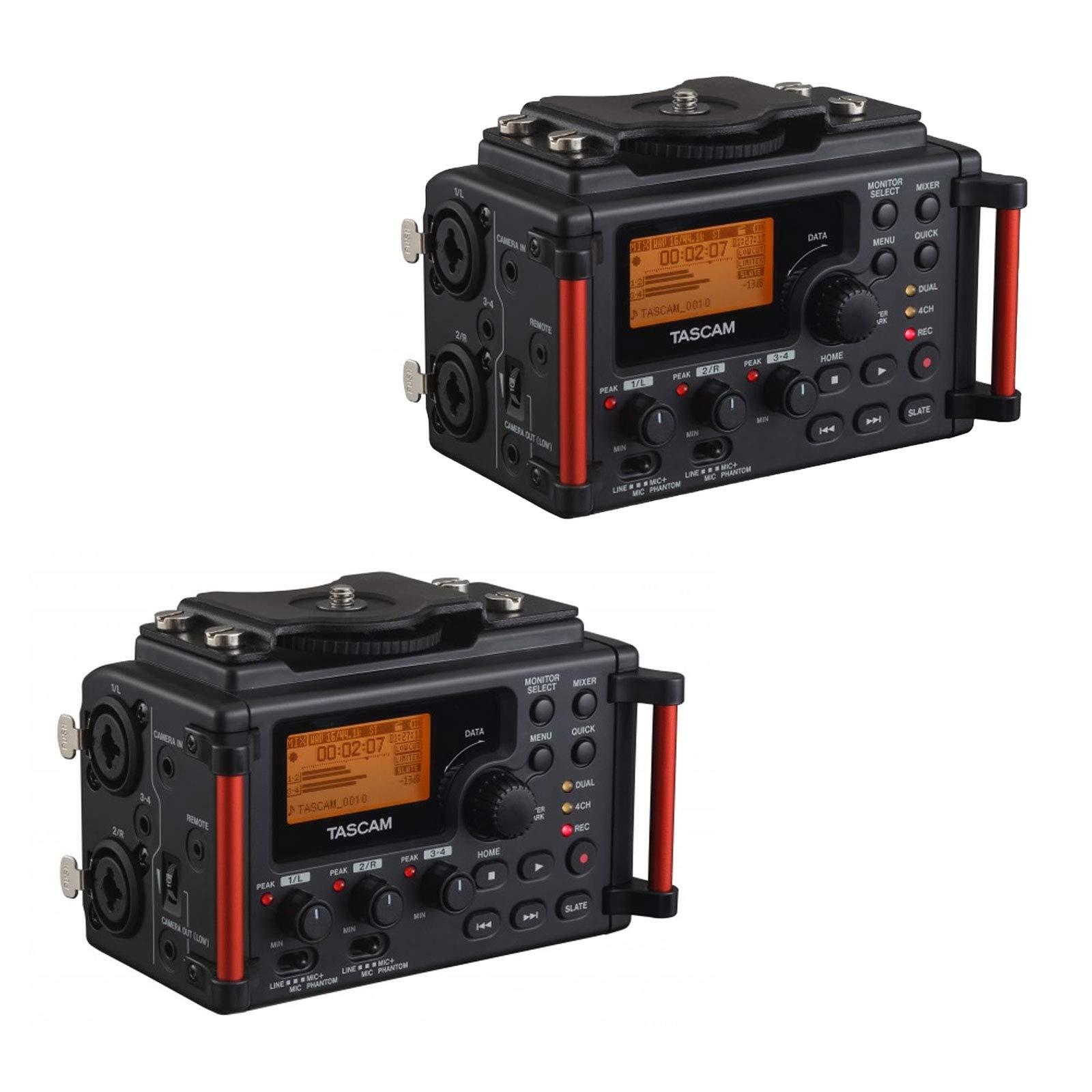 Tascam 4-Channel Linear PCM Audio Portable DSLR Film Recorder/Mixer (2 Pack)