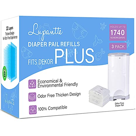 Amazon.com: Lupantte - Recambios para pañales Dekor Plus, 3 ...