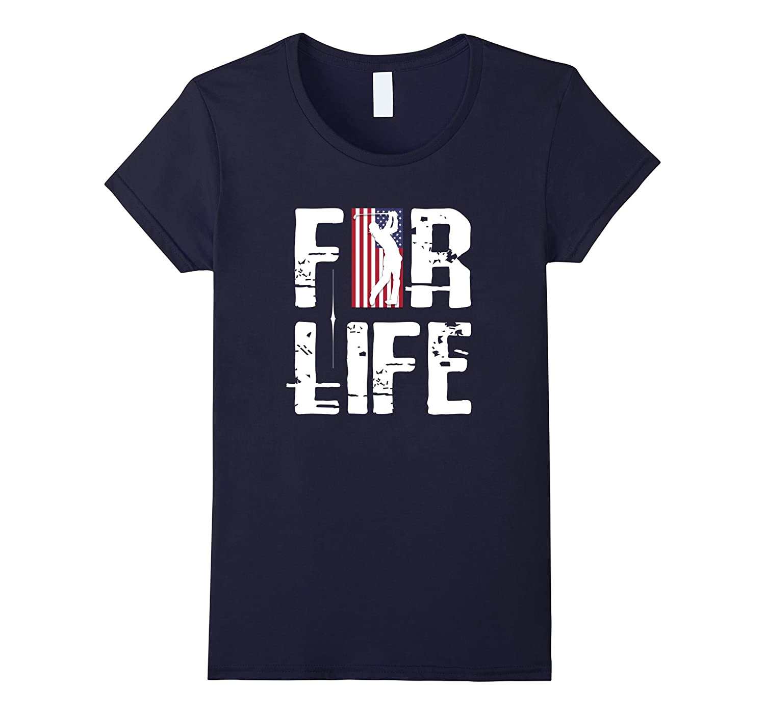 American Flag 4th of July 4 Golf Player For Life T-Shirt