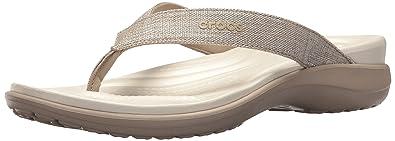 01327c479769 Crocs Women s Capri V Shimmer Flip Flop