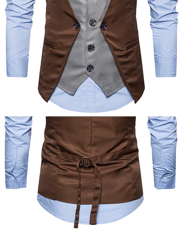 YCHENG Herren Mode Leicht Anzugweste V-Ausschnit Business Lässige Weste:  Amazon.de: Bekleidung