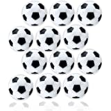 Anapoliz Table Soccer Foosballs | Replacement 12 Pack | Mini Black and White 36mm Table Soccer Balls | Regulation Size Foosba