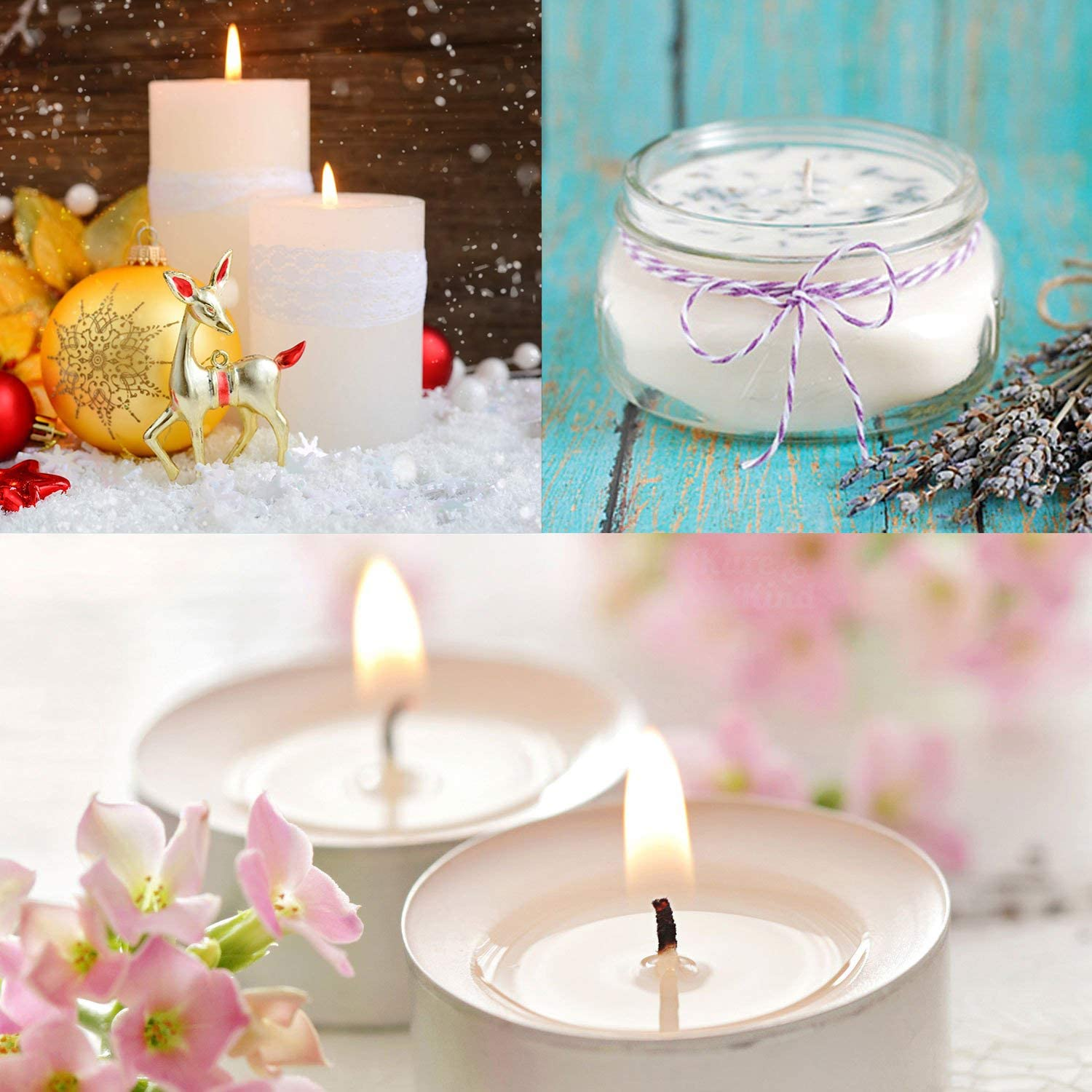 3,2.3,1.8 Candle DIY Velidy 301 Pieces Candle Making Kit Including150pcs Natural Candle Wicks/&150pcs Candle Wicks Stickers /& 1pcs Candle Wick Centering Device for Candle Making