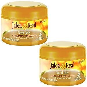 Jalea Real Anti Aging Anti Wrinkles Moisturizing Cream with Elastin 3.8 Oz. 2-PACK