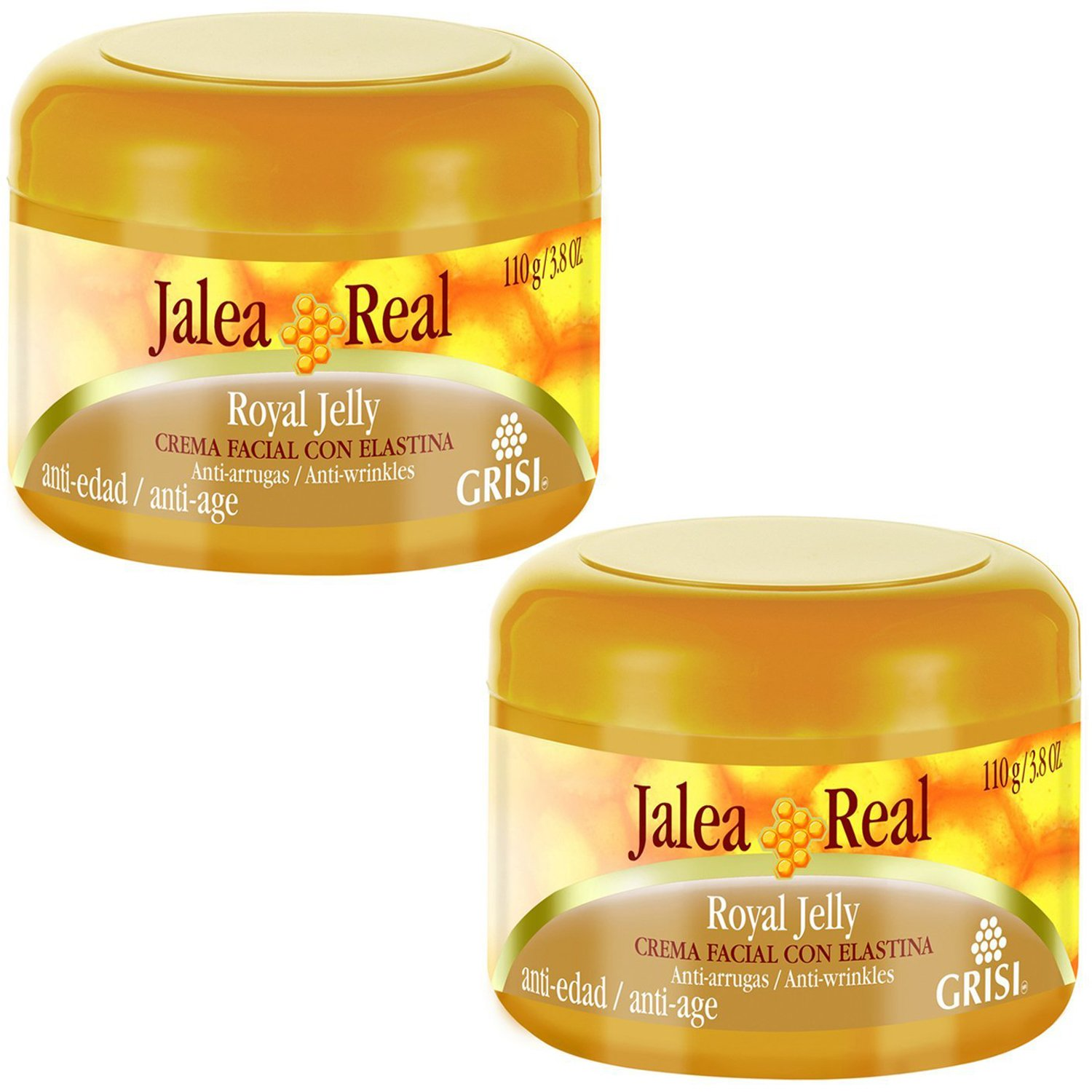 Jalea Real Anti Aging Anti Wrinkles Moisturizing Cream with Elastin 3.8 Oz. 2-PACK