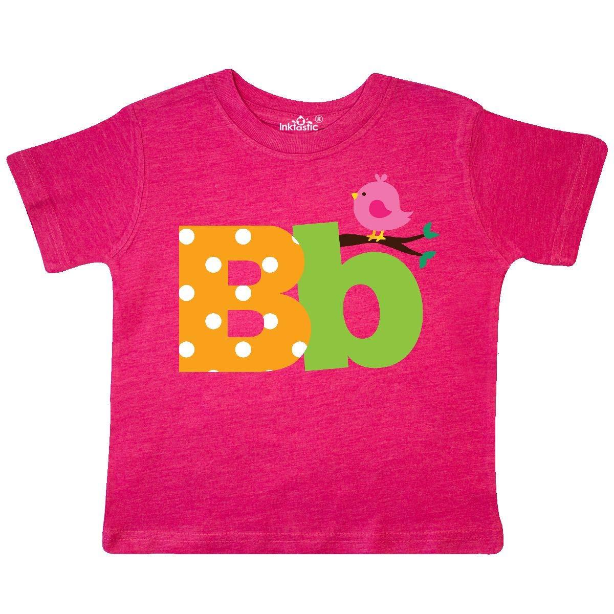 inktastic Alphabet Letter B with Bird Toddler T-Shirt