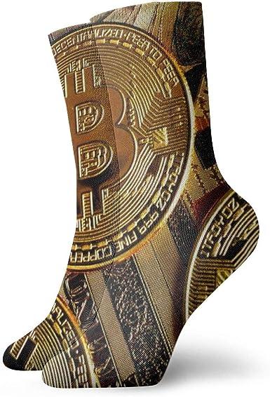 OUYouDeFangA Bitcoin Shine - Calcetines cortos para adultos ...