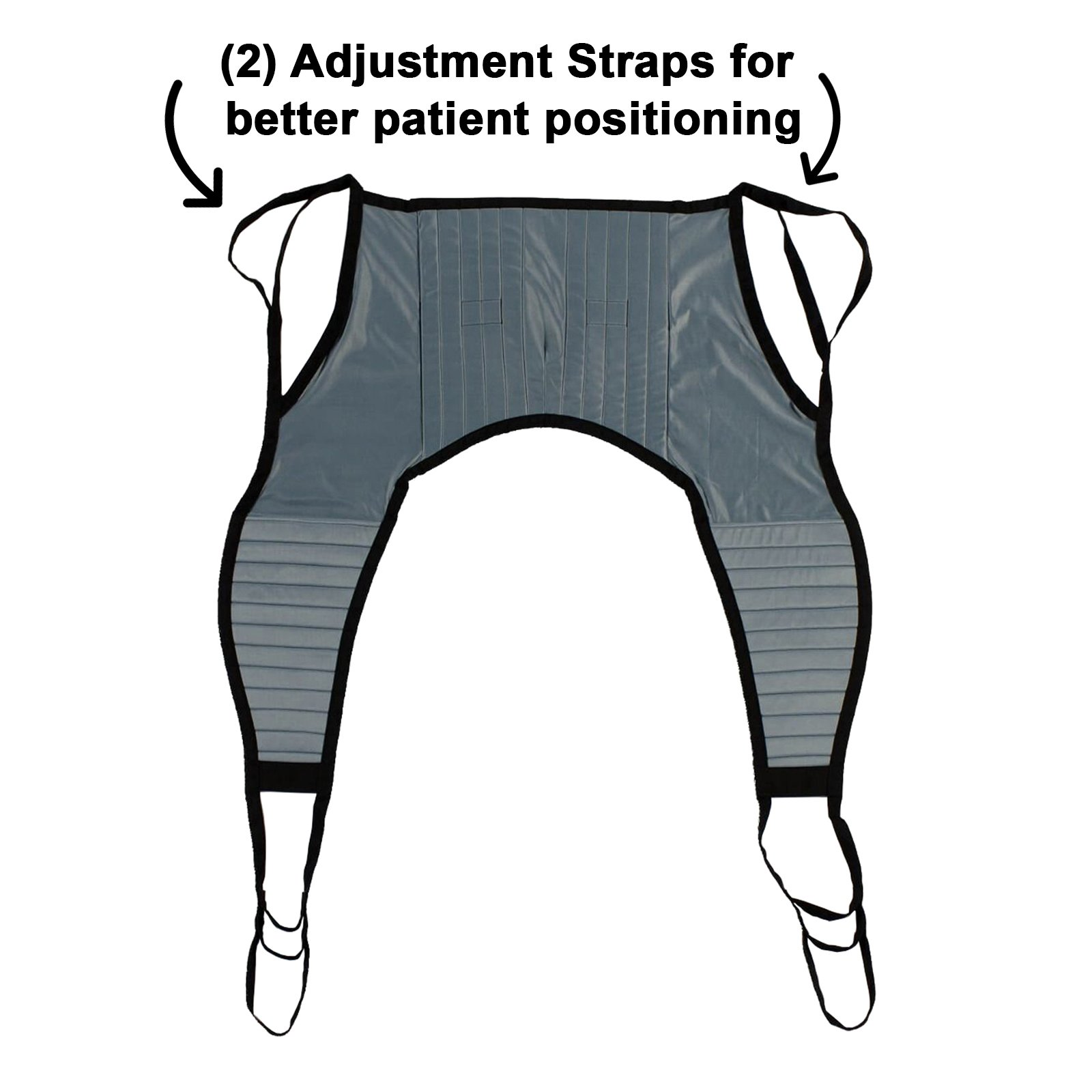 Padded U-Sling Without Head Support, Universal Patient Lift Sling, Size Large, 600lb Capacity by Patient Aid (Image #8)