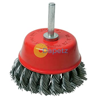 daptez® Rotary Stahl twisht Knoten Draht Topfbürste 75 mm Schleifen ...