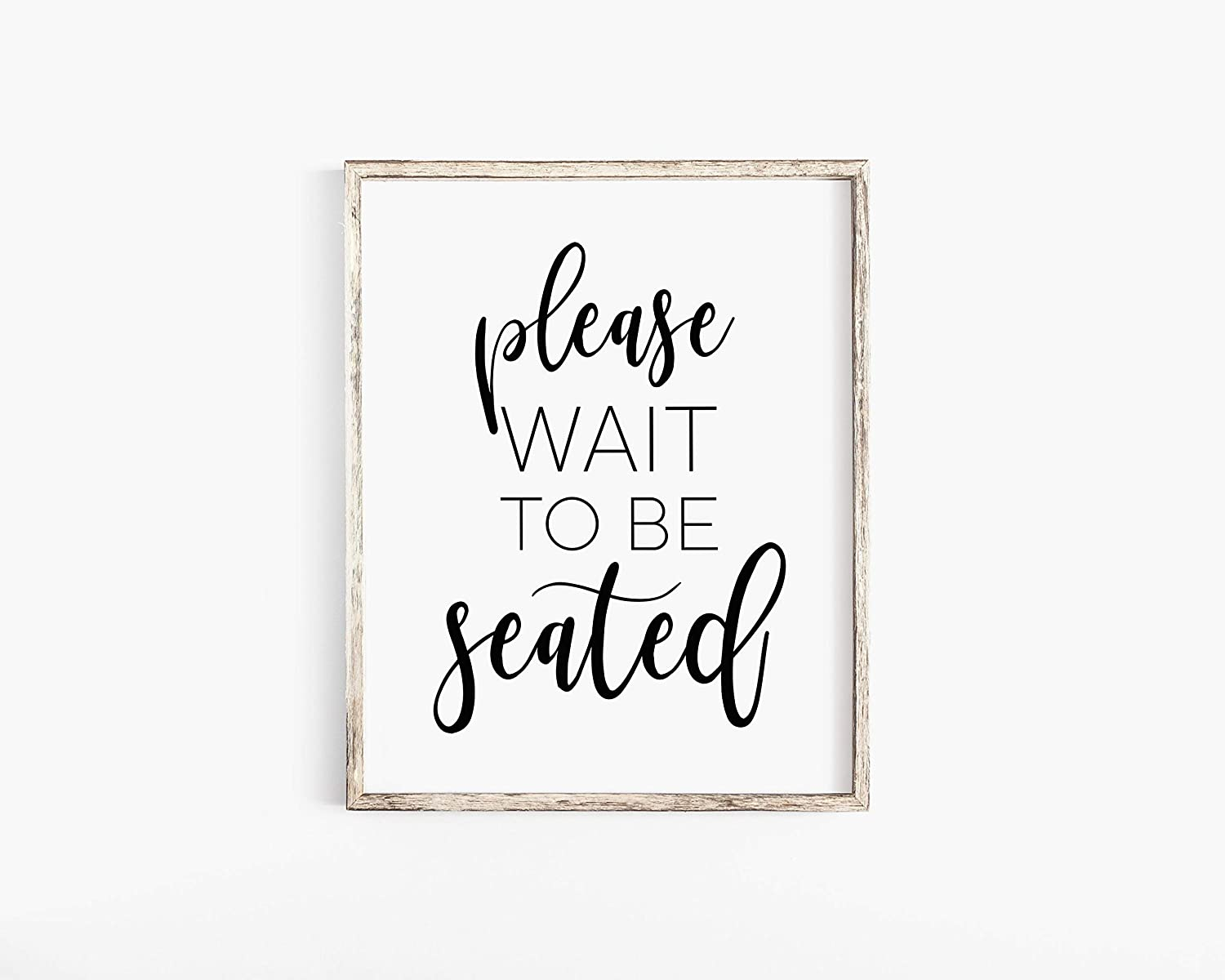 Malertaart Please Wait To Be Seated Sign Bathroom Wall Decor Printable Wall Art Funny Bathroom Art Bathroom Sign Bathroom Print Washroom Toilet Framed Wall Art Albums Frames Journals Gifts Stationery