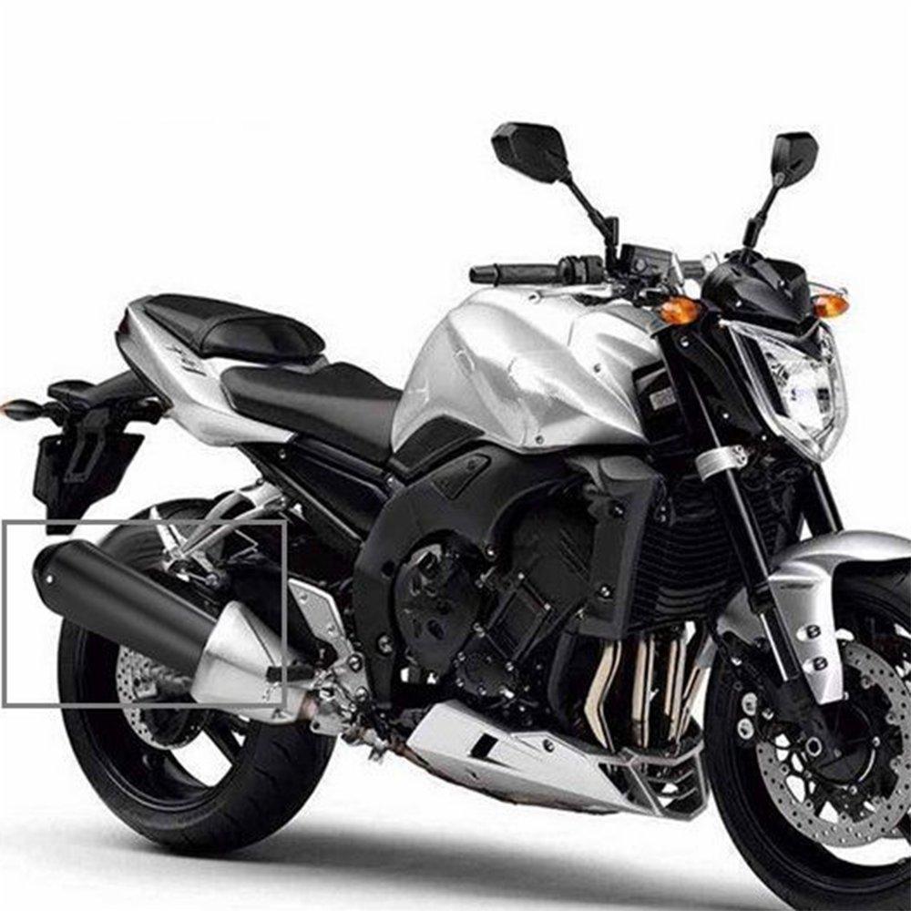 JFG RACING 1,5-1,8 Silenciador de escape universal para motocicleta cl/ásica Harley Cafe Racer cromado Bobber Custom Triumph Custom etc