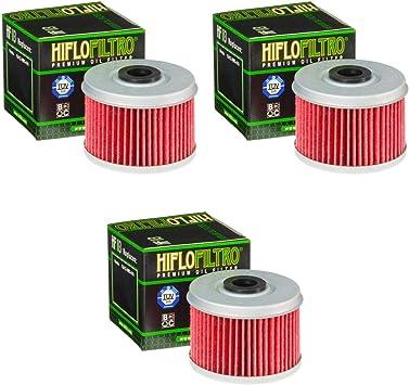 3x Filtro de aceite Honda TRX 400 EX Sportrax 99-08 Hiflo HF113