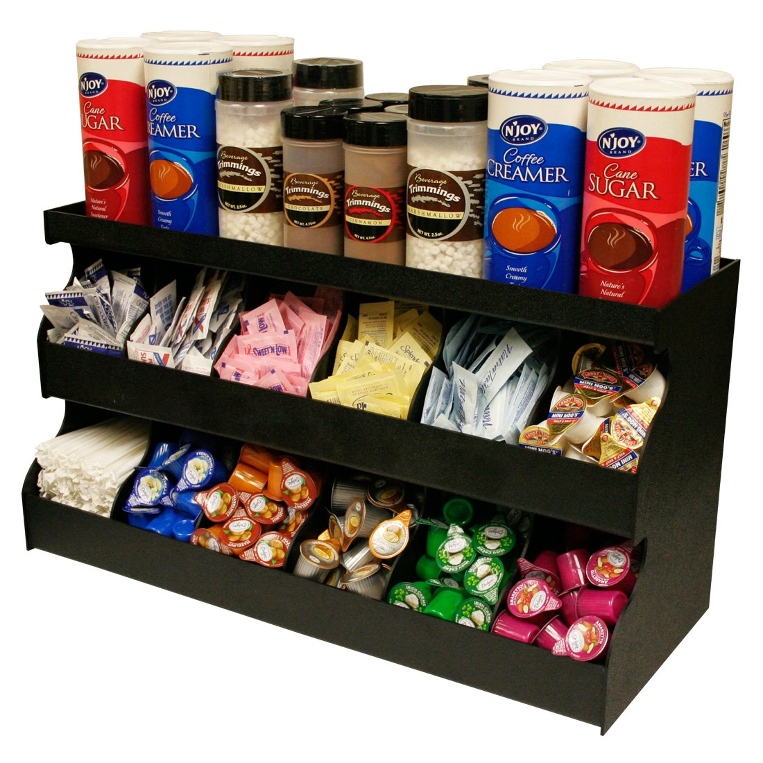 Organizer for Coffee or Sandwich Condiments. Multi-use Top Shelf. 24''w X 13'' H X 9''d. Proudly Made in America! by PPM.