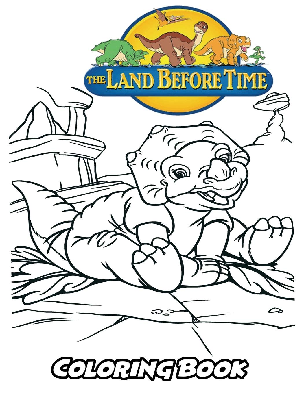 Amazon Com Land Before Time Coloring Book Coloring Book For Kids