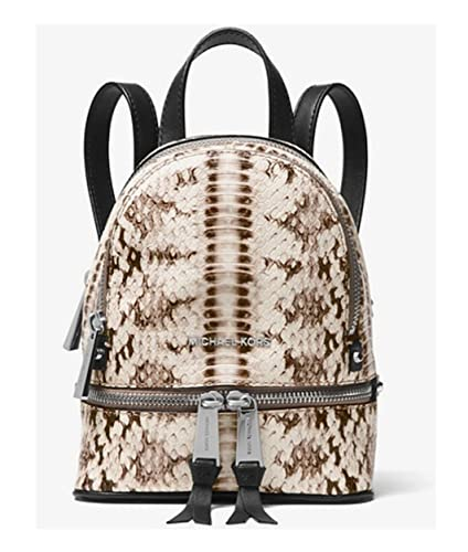 dfe55037860da4 Amazon.com: Michael Kors Rhea Mini Snake-Embossed Leather Backpack ...