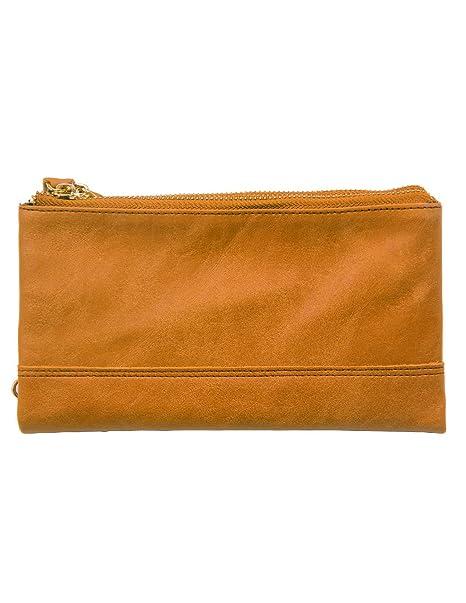 46258a864e KS Kronen Soehne uomo vera pelle lunga bifold portafogli organizer libretto  degli assegni porta carte doppia cerniera borsetta KWA010: Amazon.it: ...