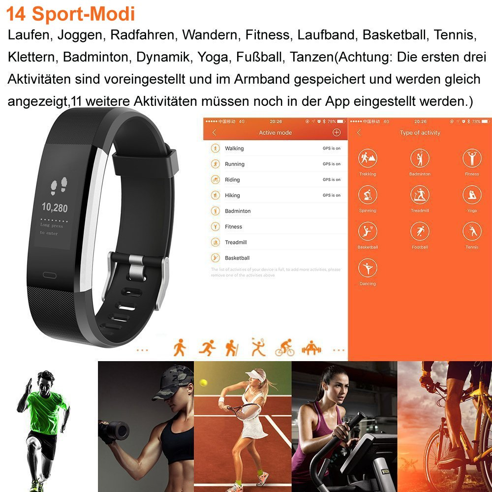 Icefox Fitness Tracker Fitness Watch Hr Heart Rate Amazon