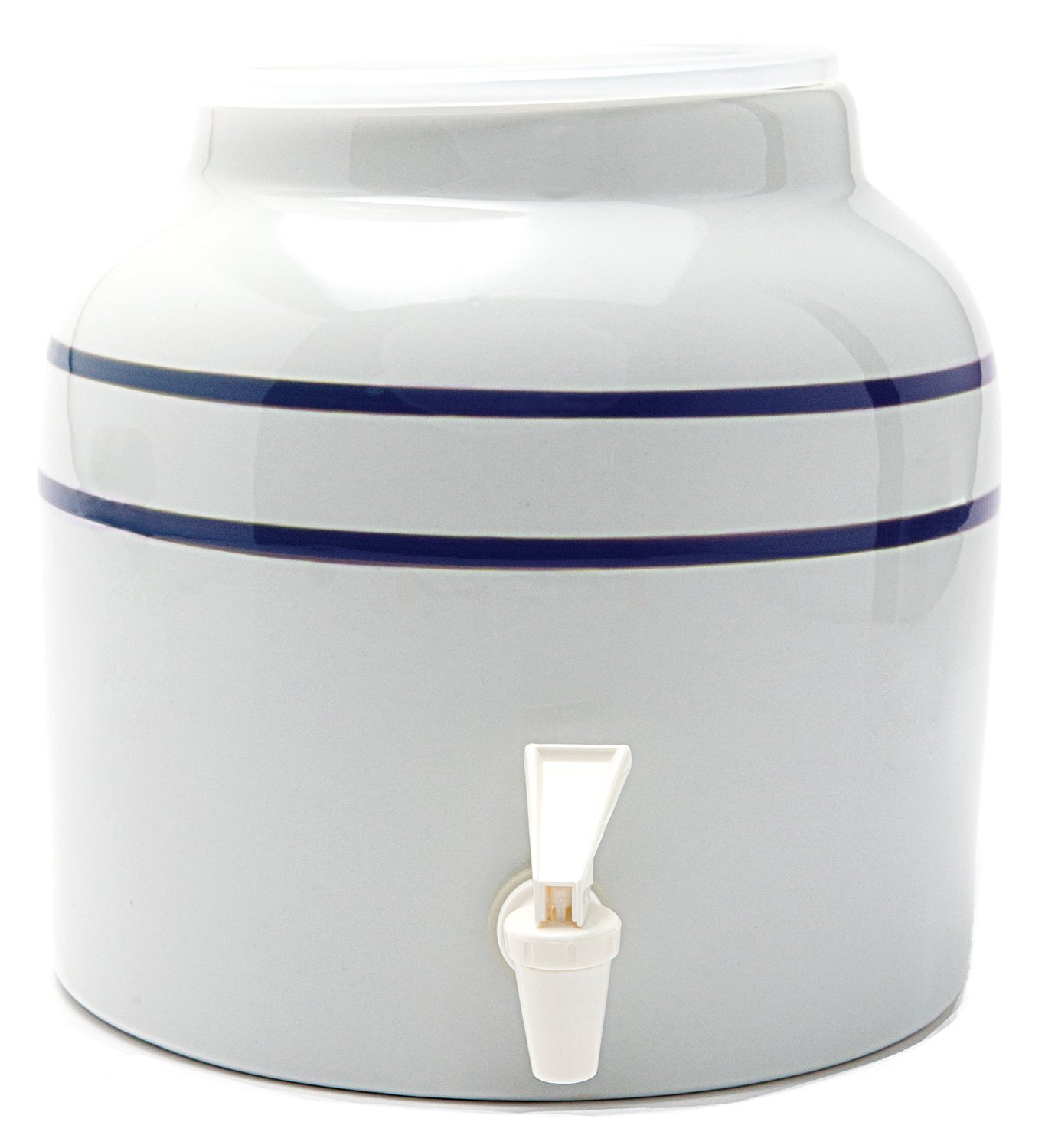 Goldwell Designs Double Stripes Water Dispenser Crock in Blue (4)